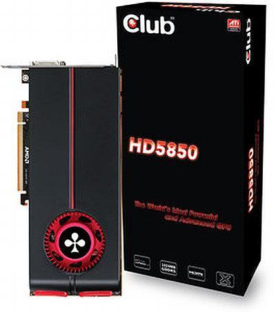 Club3D Radeon HD 5850 modelini satışa sundu