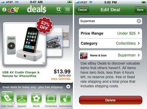 """eBay'den iPhone OS için """"eBay Deal$"""" uygulaması"""