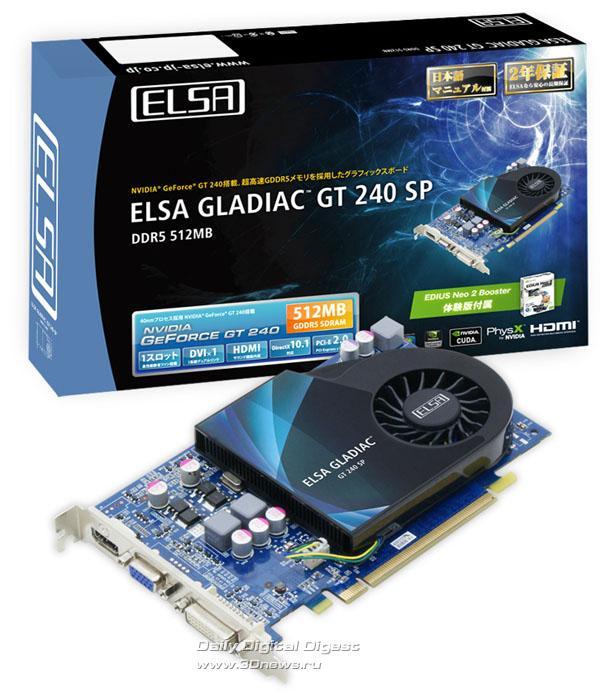 ELSA GeForce GT 240 Gladiac modelini duyurdu