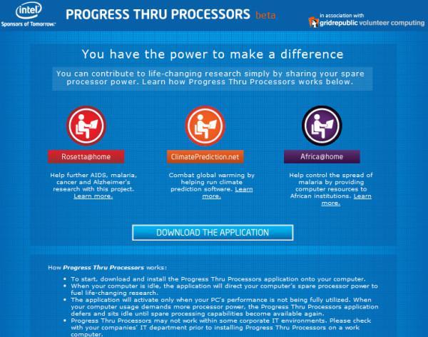 Intel bilimsel araştırmalar için yeni bir dağıtık bilgi-işlem uygulaması hazırladı