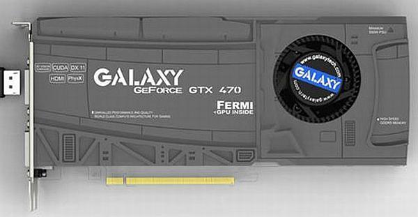 Galaxy'nin GeForce GTX 470 modeli gün ışığına çıktı