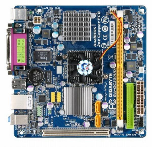 Gigabyte, Atom 330 işlemcili Mini-ITX anakartını kullanıma sunuyor