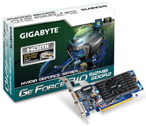 Gigabyte fabrika çıkışı hız aşırtmalı GeForce G210 ve GeForce GT220 modellerini tanıttı
