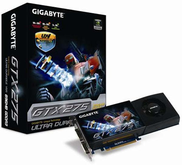 Gigabyte, UDV teknolojili GeForce GTX 275 modelini duyurdu