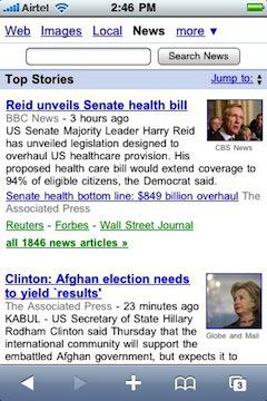 Google News artık iPhone, Android ve Pre uyumlu