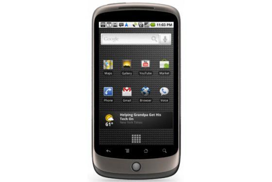 Google Nexus One, Avrupa'ya çoklu dokunmatik desteğiyle geliyor