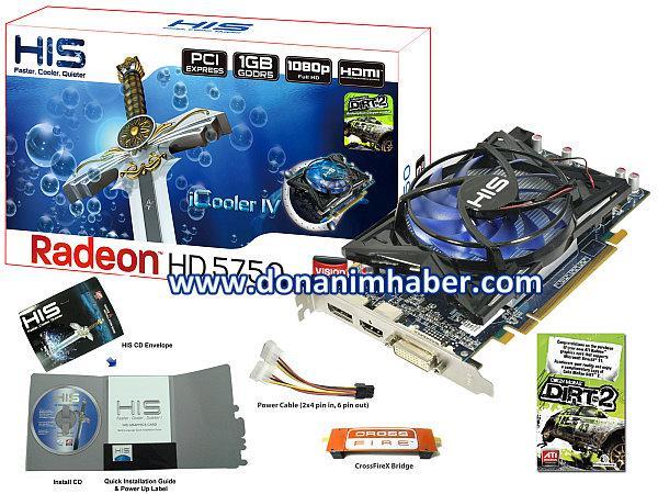 HIS özel tasarımlı Radeon HD 5750 iCooler IV modelini duyurdu