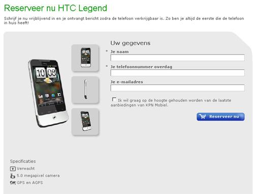 HTC Legend, Mart ayında geliyor (?)