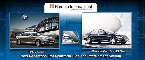 Intel Atom platformuyla araç içi bilgi-eğlence sistemlerini de hedefliyor