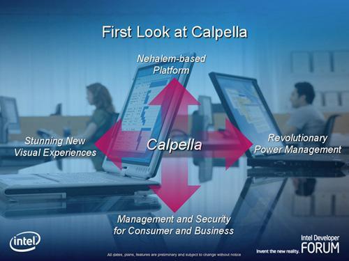 Intel'in Calpella kod adlı yeni nesil mobil platformu sene sonunda geliyor