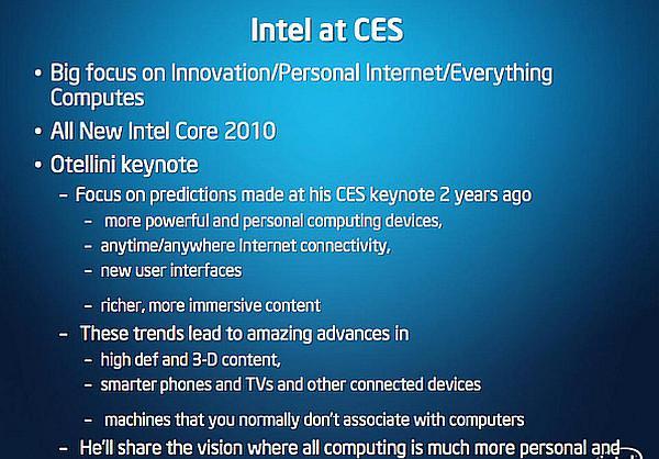 Intel'in CES 2010 fuar programı açıklandı