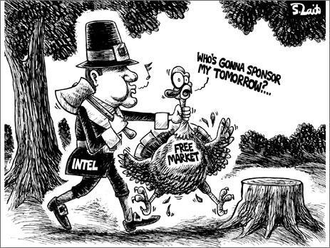Nvidia, Intel'i hedef alan yeni bir karikatür daha yayımladı