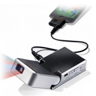 Hammacher Schlemmer'dan iPod uyumlu mini projektör cihazı