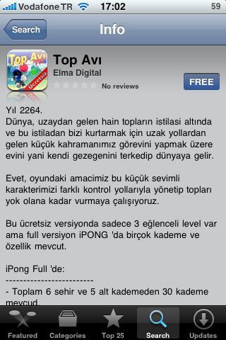 iPong ile Türk Oyun geliştiriciler iPhone'da!