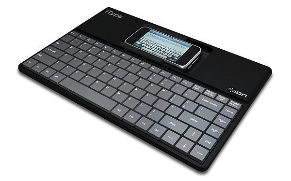 iPhone için tam boyutlu fiziksel klavye: ION iTyper