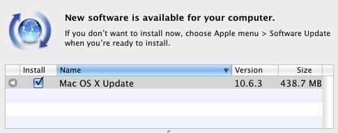Apple, Mac OS X: 10.6.3'ü yayınladı