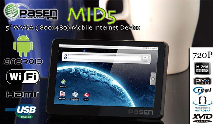 Pasen firması Android'li internet tabletini duyurdu
