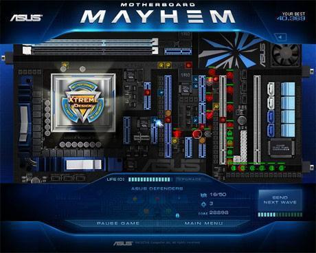 Asus'dan Xtreme Design serisi anakartlar için online oyun: Motherboard Mayhem