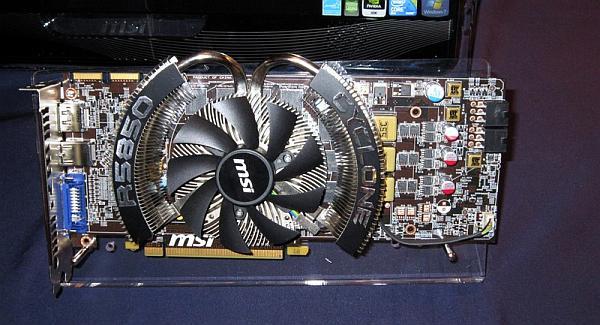 MSI Radeon HD 5850 Cyclone modelini de gösterdi