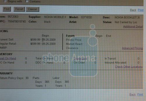 Nokia Booklet 3G'nin satış fiyatı 600 dolar mı olacak ?