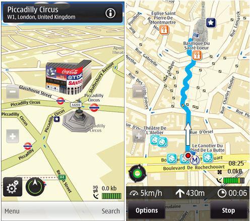 Nokia, Ovi Maps'de artık ücretsiz adım adım navigasyon desteği sunuyor