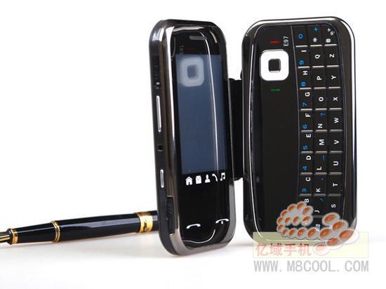 Nokla E97; Çıkartılabilir QWERTY klavyeli cep telefonu