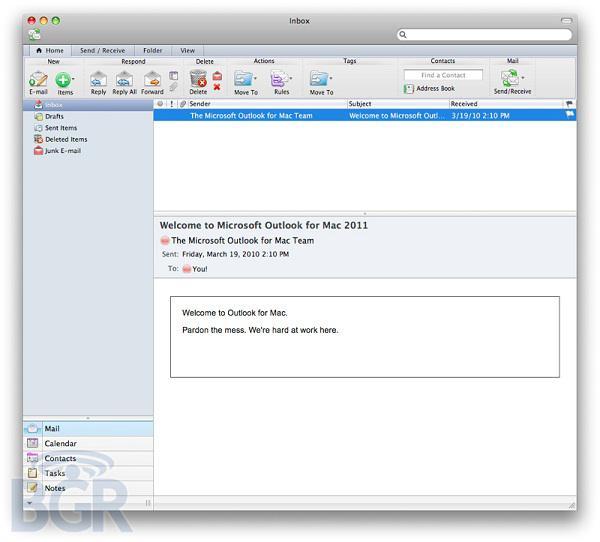 Microsoft Office for Mac 2011'in ilk görüntüleri internete sızdı