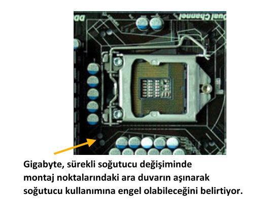 Gigabyte: P55 anakartlarda LGA775 kontakt noktalarına özellikle yer vermedik!