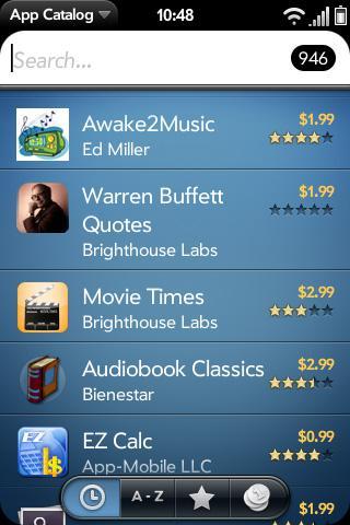 Palm App Catalog, 1000 uygulamayı aşmak üzere