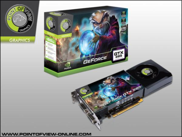 Point of View, 2GB GDDR3 bellekli GeForce GTX 285 modelini tanıttı