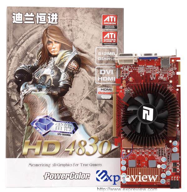 ATi Radeon HD 4830'un 800x paralel işlemcili örneği görüntülendi