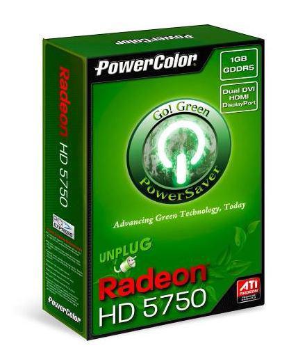 PowerColor Go! Green serisi enerji verimli Radeon HD 5750 modelini hazırlıyor