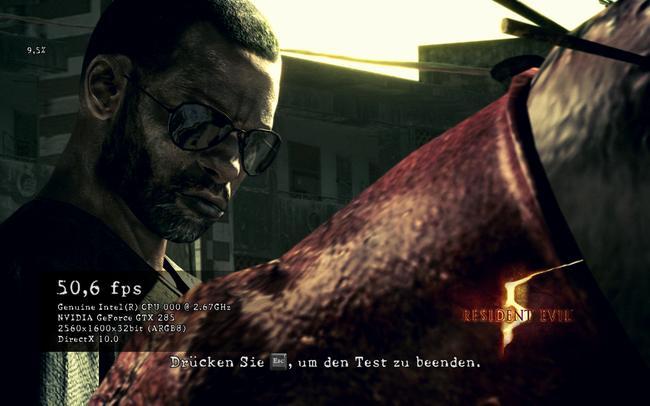 Resident  Evil 5 ile DirectX 9 ve DirectX 10 karşılaştırması