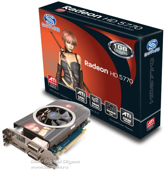 Sapphire özel tasarımlı yeni bir Radeon HD 5770 daha hazırladı