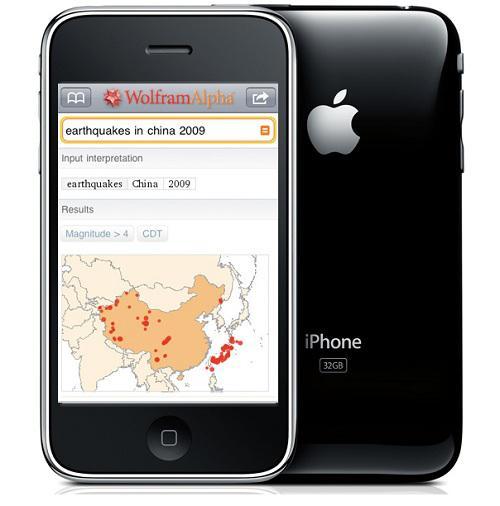 Wolfram Alpha'nın mobil sitesi açıldı, iPhone uygulamasının fiyatı 2 dolara düşürüldü