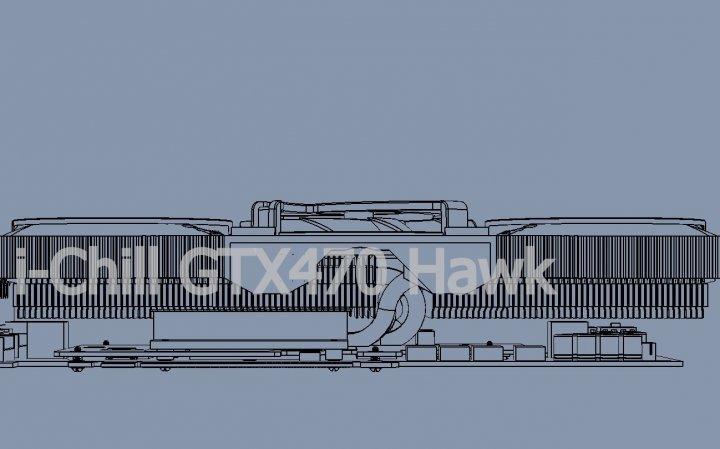 Inno3D özel tasarımlı GeForce GTX 470 i-Chill Hawk modelini hazırlıyor