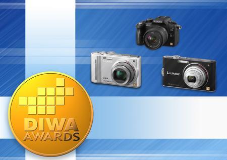 Panasonic Lumix G2, TZ10 ve FX66 Dijital Fotoğraf Makinelerine Üçlü DIWA (Dijital Görüntü İnternet Siteleri Birliği) Altın Ödülü