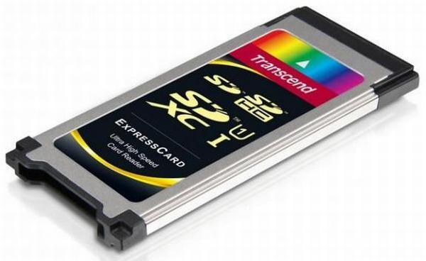 Transcend'den SDXC destekli ve ExpressCard uyumlu yeni kart okuyucusu