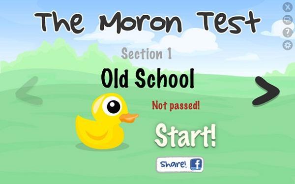 The Moron Test masaüstünüze konuk oluyor