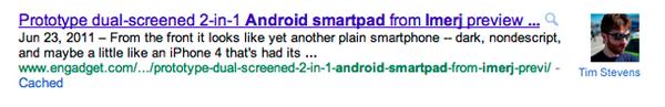 Google artık içerik yazarlarını da görüntüleyecek