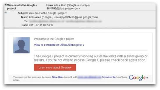 Google+ spamlarına dikkat
