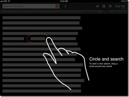 Microsoft, iPad için Bing uygulamasını güncelledi