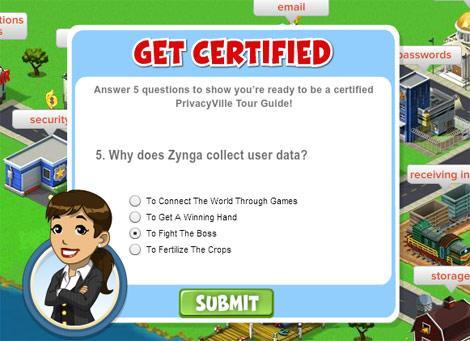 Zynga Games kullanım koşullarını PrivacyVille oyunuyla öğretecek