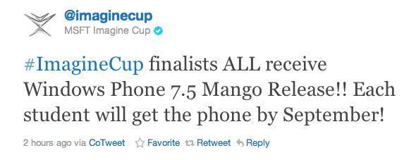 Microsoft Imagine Cup finalistlerine Mango telefonlar hediye edecek