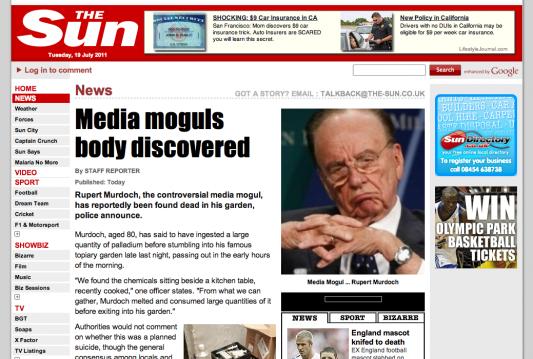 News Corporation'a bağlı 3 gazetenin sitesi hacklendi