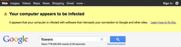 Google'dan zararlı yazılım uyarısı