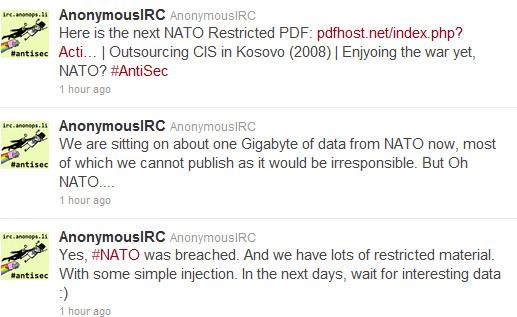 Anonymous NATO'yu hacklediğini iddia ediyor, gizli dökümanlar internette paylaşıldı