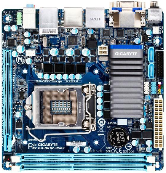 Gigabyte'tan Mini-ITX formunda yeni anakart; H61N-USB3