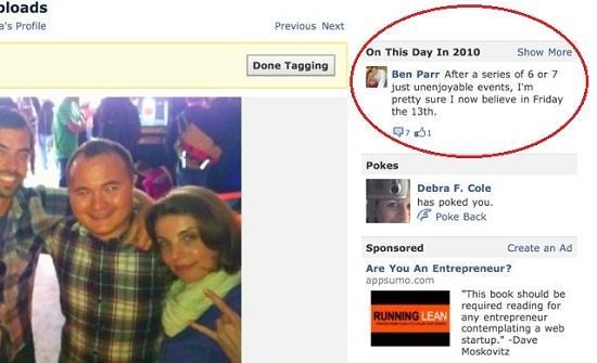 Yeni Facebook özelliği 2009-2010 yıllarındaki durum güncellemelerinizi gösteriyor