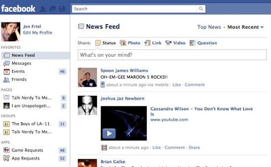 Facebook yenilenmiş sol el gezinti özelliğini başlatıyor